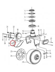 Šroub na elektrický paletový vozík CBD12W