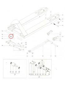 Zajišťovací pružina pro paletový vozík Jungheinrich