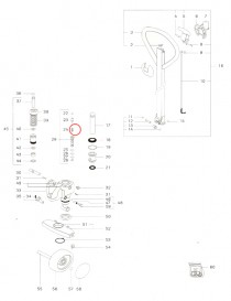 Pružina ventilu na paletový vozík Jungheinrich