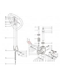 Čep pro zajištění madla na paletový vozík M25. Řada BFC6-III