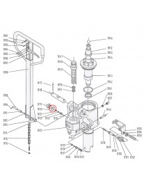 Měděná podložka pro paletovací vozík M25. Řada BF-1