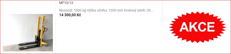Ruční vysokozdvižný paletový vozík MF10/12